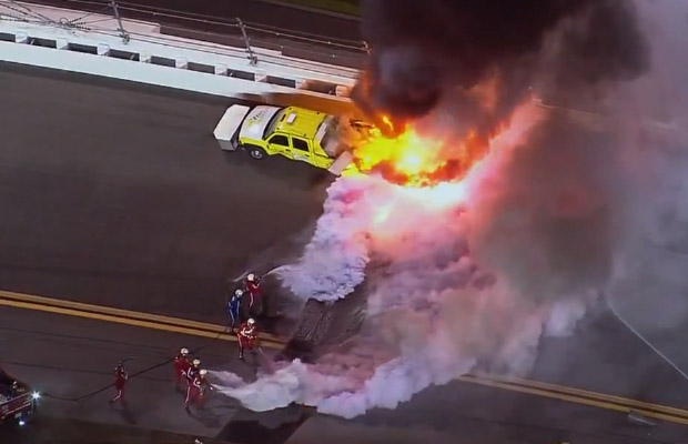 Daytona 500 2012 crash Juan Pablo Montoya