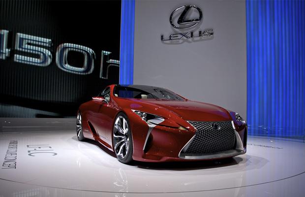 Lexus LF-LC Hybrid Concept op de Autosalon Geneve 2012.