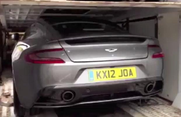 2013 Aston Martin Vanquish spyvideo