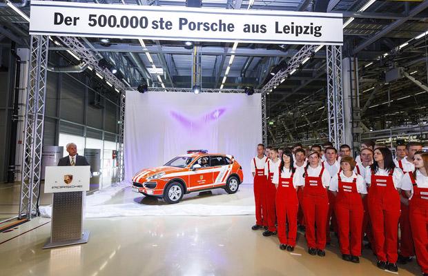 500000e Porsche Cayenne at Leipzig plant