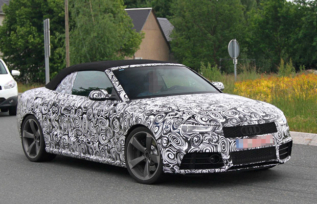 Audi RS5 cabrio spyshots