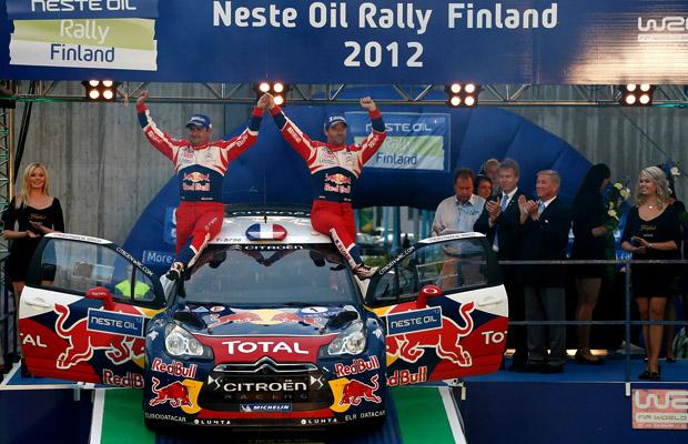 Sebastien Loeb Citroen DS3 WRC Rally Neste Oil Finland 2012