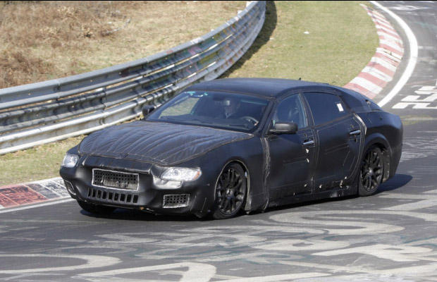 2013 Maserati Quattroporte Spyshots Nurburgring