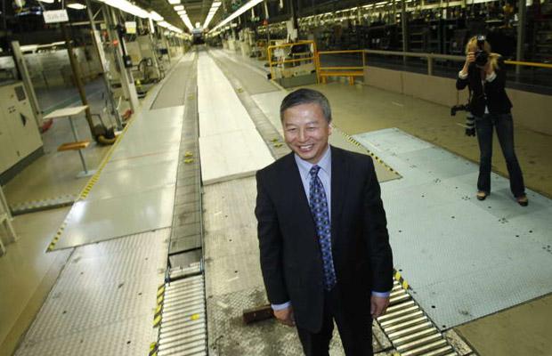 Kai Johan Jiang Saab factory Trolhattan 2012