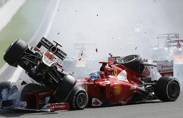 Spa Francorchamps 2012 crash La Source