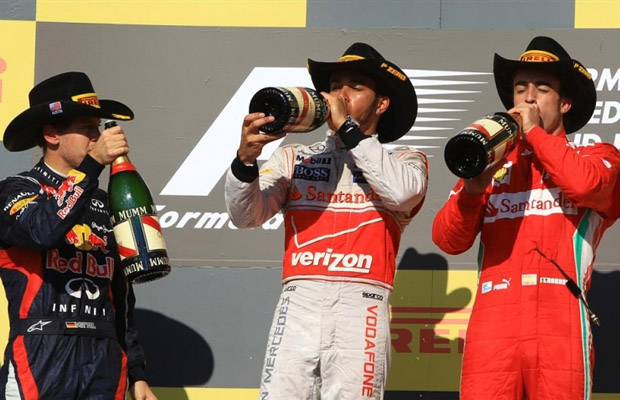 Grand Prix Amerika 2012 Lewis Hamilton podium GP of Americas