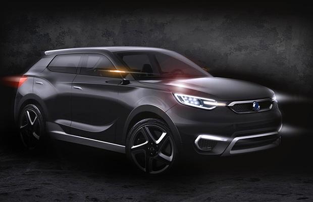 Het duistere SIV-1 Concept model dat zal debuteren in Geneve.