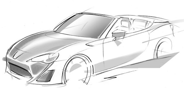Toyota FT-86 Open Concept sketch GT86 cabrio