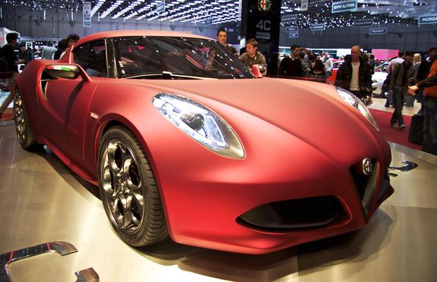 Alfa Romeo 4C Concept op de Autosalon Geneve 2011
