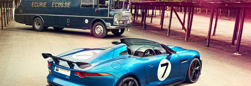 Jaguar Project 7 op D-type geinspireerde F-Type