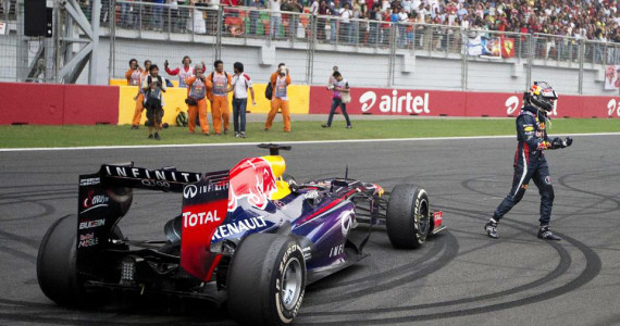 Sebastian Vettel Indian Grand Prix World Champion 2013