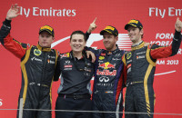 Sebastian Vettel Red Bull Racing Grand Prix Korea 2013 Kimi Raikkonen Romain Grosjean
