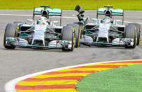 Mercedes AMG incident Spa Francorchamps belgium lewis hamilton nico rosberg