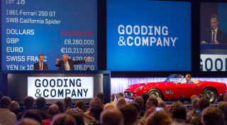 Pebble Beach Concours Monterey auctions 2014 Gooding & Company