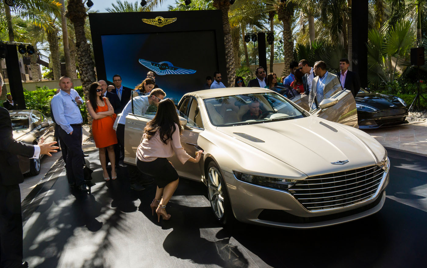 Presentatie Lagonda Taraf in Dubai