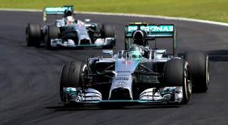 Mercedes AMG F1 Nico Rosberg Lewis Hamilton Brazil Interlagos 2014
