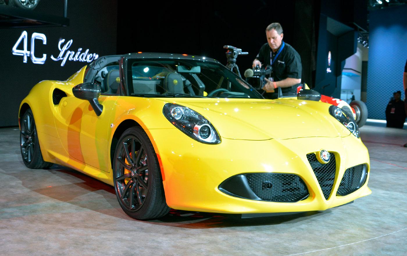 Alfa Romeo keert terug in de VS met 4C Spider