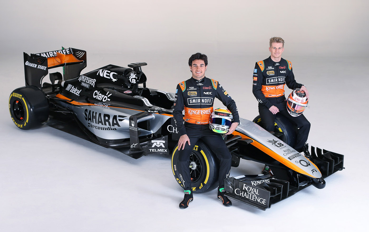 Force India 2015 Formula 1 car Sergio Perez en Nico Hülkenberg