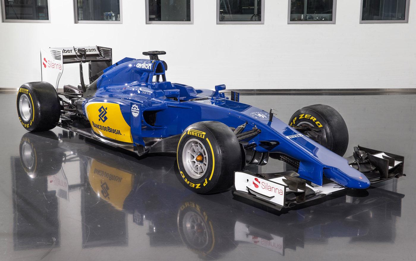 Sauber Ferrari C34 2015 car Felipe Nasr en Marcus Ericsson