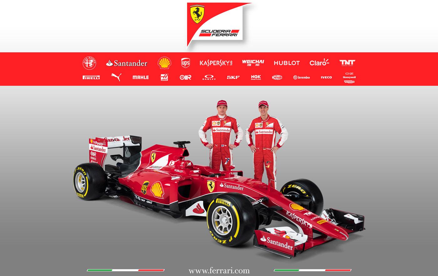 Scuderia Ferrari SF15-T Kimi Raikkonen Sebastian Vettel
