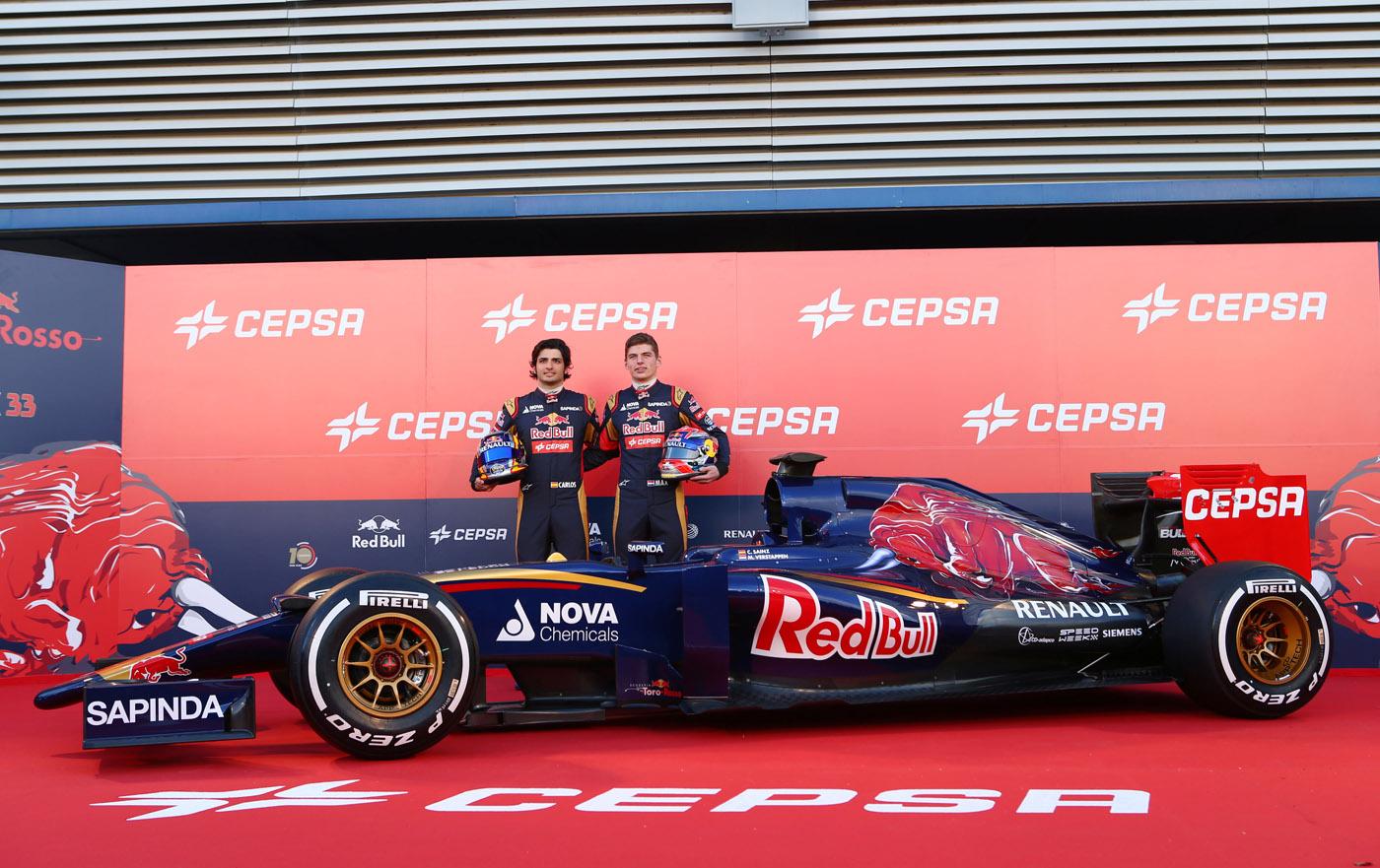 Suceria Toro Rosso STR10 Max Verstappen en Carlos Sainz jr