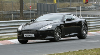 Aston Martin DB9 successor mule testing Nurburgring Nordschleife