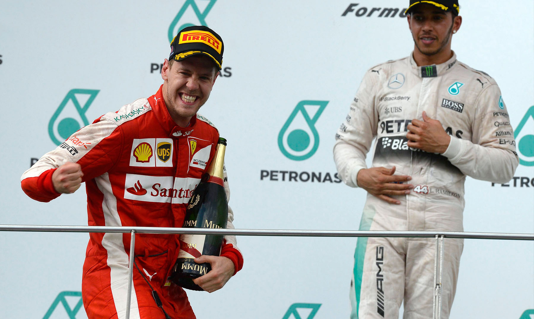 Vettel in Maleisië weer op 1