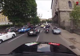 Mille Miglia 2015 in Brescia onboard