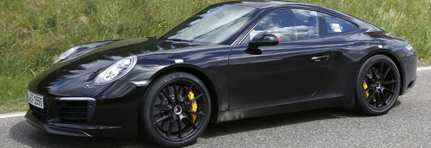 Porsche 911 997 facelift spyshot