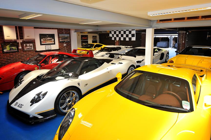 Peter Saywell's garage