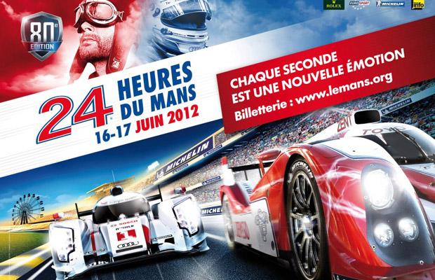 24h Le Mans 2012 16-17 juni Poster