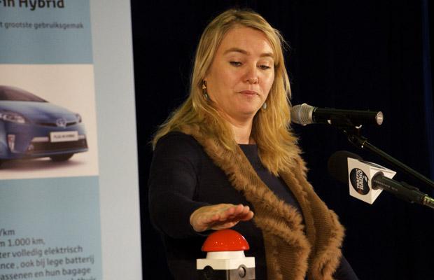 Minister Infrastructuur en milieu Melanie Schultz van Haegen EcoMobiel Ahoy 2012