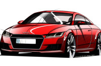 Audi TT 2014 schets