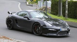 Porsche Cayman GT4 2015-2016 Spyshot