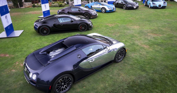 All Bugatti Legends at Pebble Beach 2014