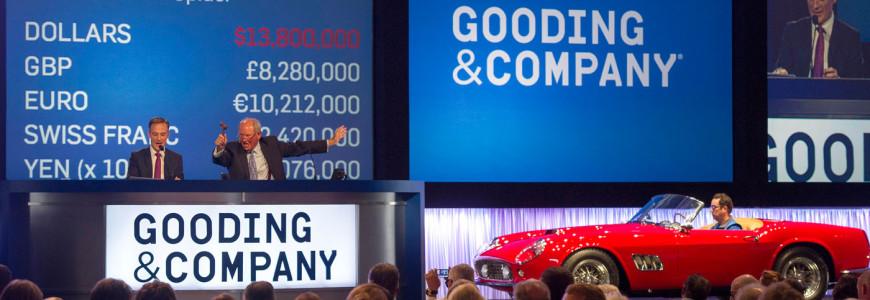 Pebble Beach Concours Monterey auctions 2014 Gooding & Company